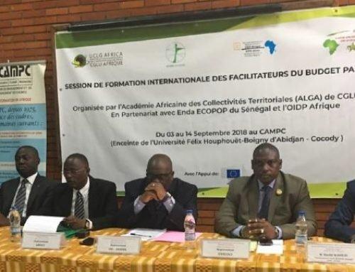 Session internationale de formation au budget participatif à Abidjan (Côte d'Ivoire)